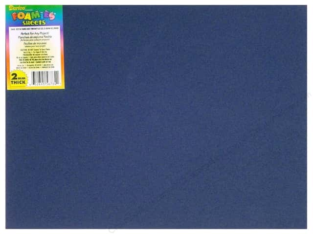 Darice Foamies Foam Sheet  9 x 12 in. 2 mm. Navy Blue (10 sheets)