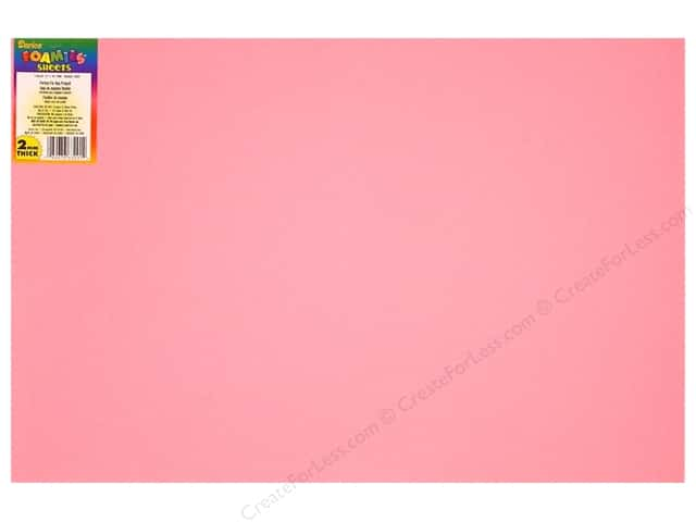 Foamies Foam Sheet 12 x 18 in. 2 mm. Pink (10 sheets)