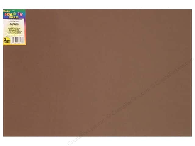 Foamies Foam Sheet 12 x 18 in. 2 mm. Brown (10 sheets)