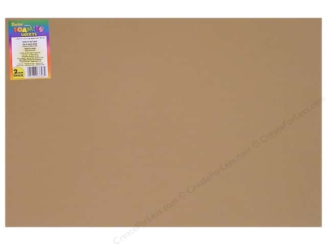 Foamies Foam Sheet 12 x 18 in. 2 mm. Light Tan (10 sheets)