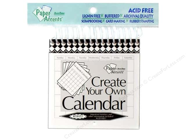 Paper Accents 14 Month Calendar 4 x 4 in. White