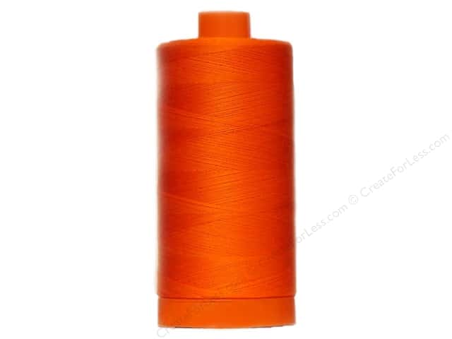 Aurifil Mako Cotton Quilting Thread 50 wt. #1104 Neon Orange 1420 yd.