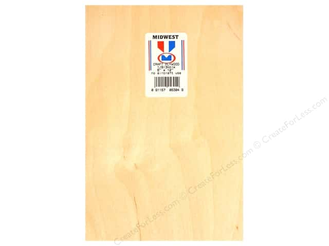 "Midwest Craft Plywood 1/8""x 6""x 12"" (6 pieces)"