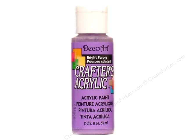 DecoArt Crafter's Acrylic Paint 2 oz. #110 Bright Purple