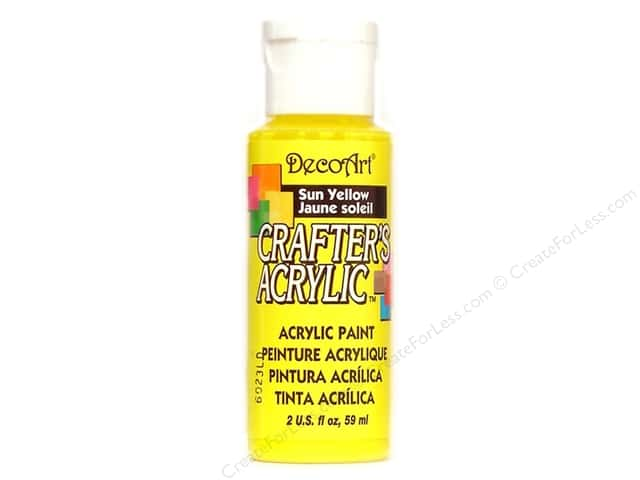 DecoArt Crafter's Acrylic Paint 2 oz. #113 Sun Yellow