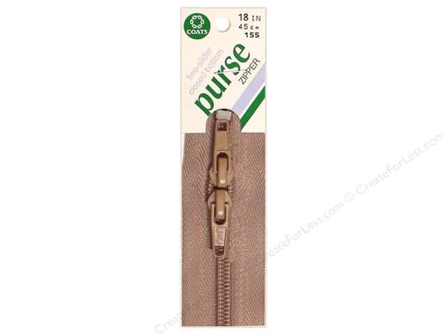"Coats & Clark Purse Zipper 18"" 18"" Dogwood"