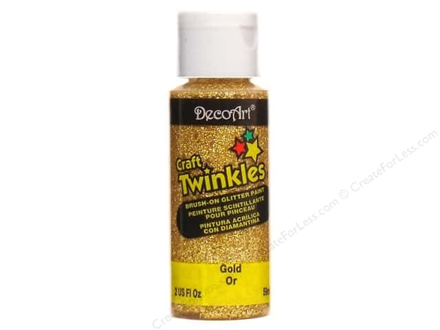 DecoArt Craft Twinkles 2 oz. Gold