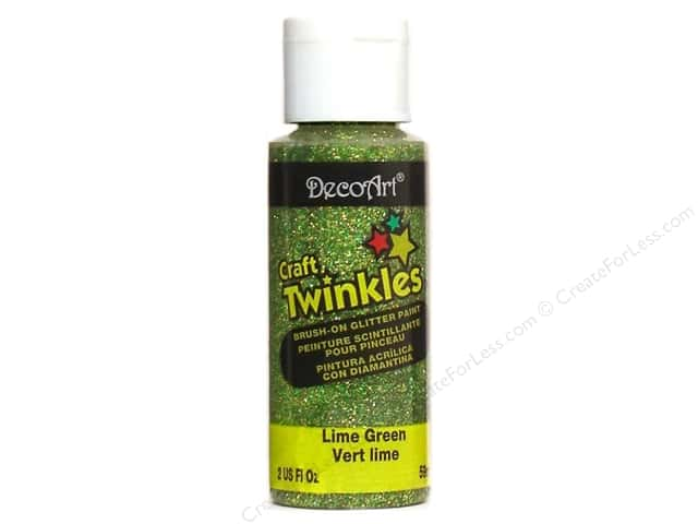 DecoArt Craft Twinkles 2 oz. Lime Green