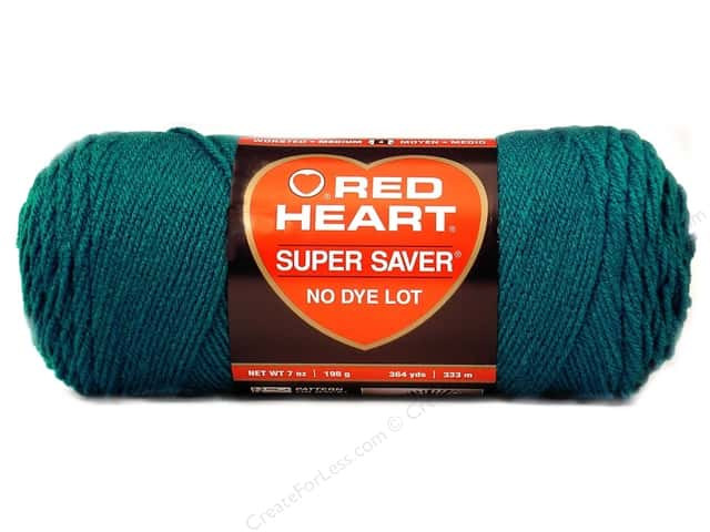 Red Heart Super Saver Yarn #0656 Real Teal 364 yd.