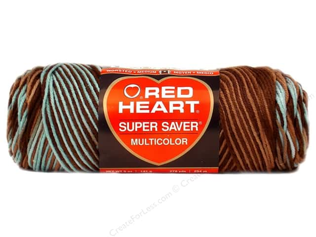 Red Heart Super Saver Yarn #0928 Earth & Sky 236 yd.