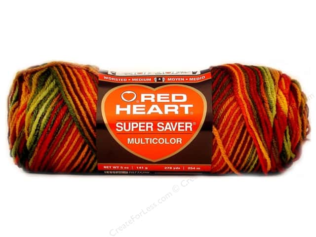 Red Heart Super Saver Yarn #0981 Fall 236 yd.