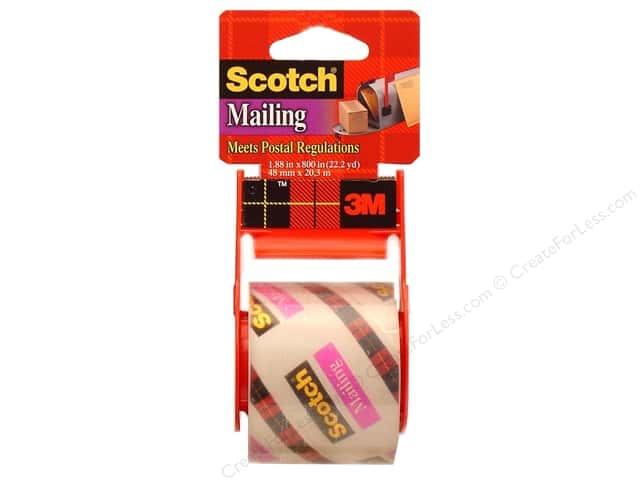 Scotch Mailing Tape 1 7/8 x 800 in. Clear with Dispenser