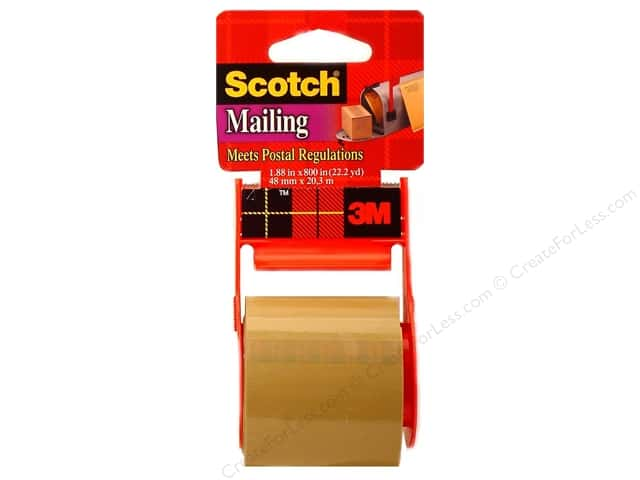 Scotch Mailing Tape 1 7/8 x 800 in. Tan with Dispenser