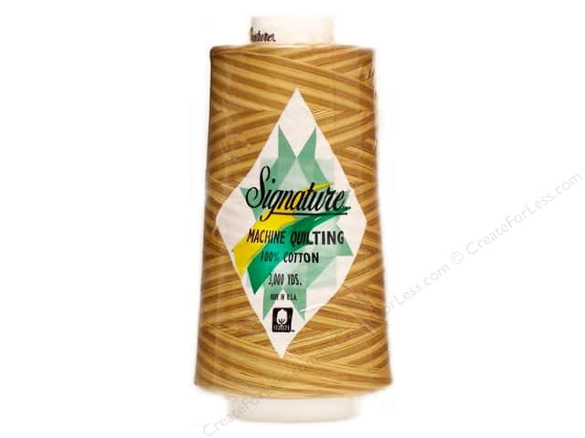 Signature 100% Cotton Thread 3000 yd. #M75 Variegated Tan Tints