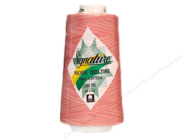 Signature 100% Cotton Thread 3000 yd. #M78 Variegated Pinky Pinks