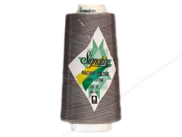 Signature 100% Cotton Thread 3000 yd. #M90 Variegated Grey Shades