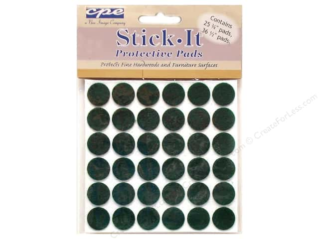 CPE Stick It Pads Felt Dots Kelly Green