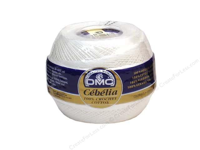 DMC Cebelia Crochet Cotton Size 10 #B5200 Snow White