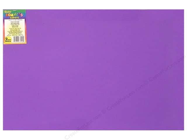 Darice Foamies Foam Sheet 12 x 18 in. 2 mm. Purple (10 sheets)