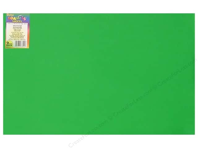 Darice Foamies Foam Sheet 12 x 18 in. 2 mm. Christmas Green (10 sheets)