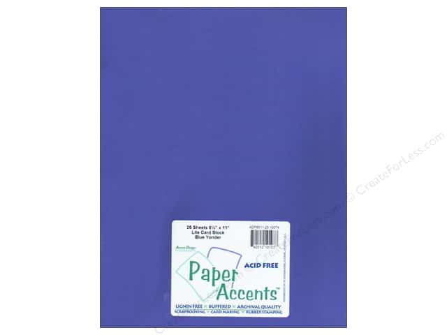Cardstock 8 1/2 x 11 in. #10074 Stash Builder Blue Yonder by Paper Accents (25 sheets)