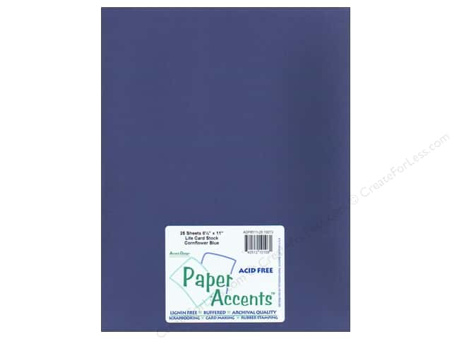 Cardstock 8 1/2 x 11 in. #10073 Stash Buidler Cornflower Blue by Paper Accents (25 sheets)