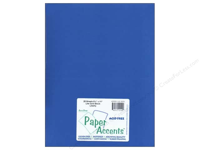 Cardstock 8 1/2 x 11 in. #10076 Stash Builder Liberty by Paper Accents (25 sheets)