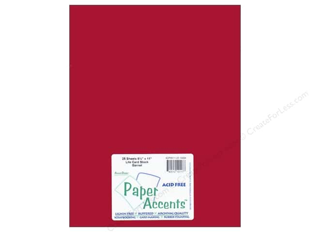 Cardstock 8 1/2 x 11 in. #10084 Stash Builder Garnet by Paper Accents (25 sheets)