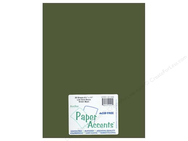 Cardstock 8 1/2 x 11 in. #10088 Stash Builder Green Bean by Paper Accents (25 sheets)