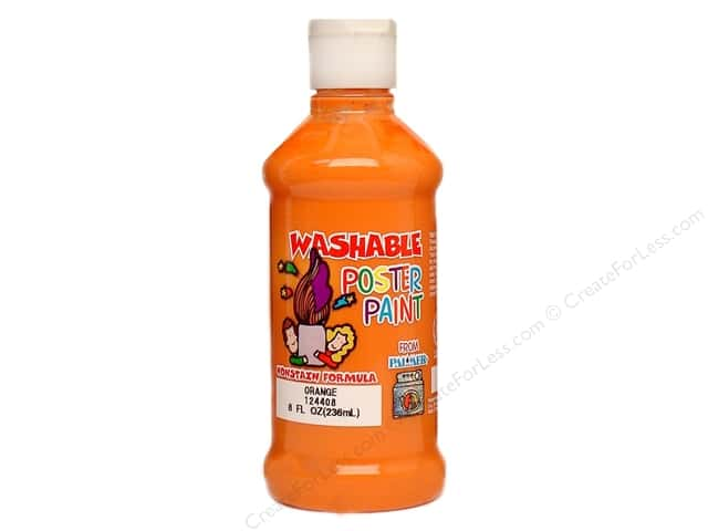 Palmer Washable Poster Paint 8oz Orange