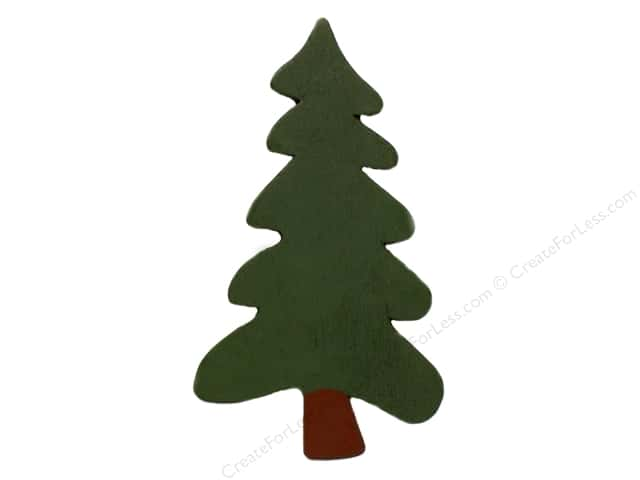 Lara's Wood Painted Folk Tree 6 in. (24 pieces)
