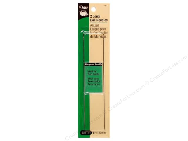 Dritz Long Doll Needles 2 pc.