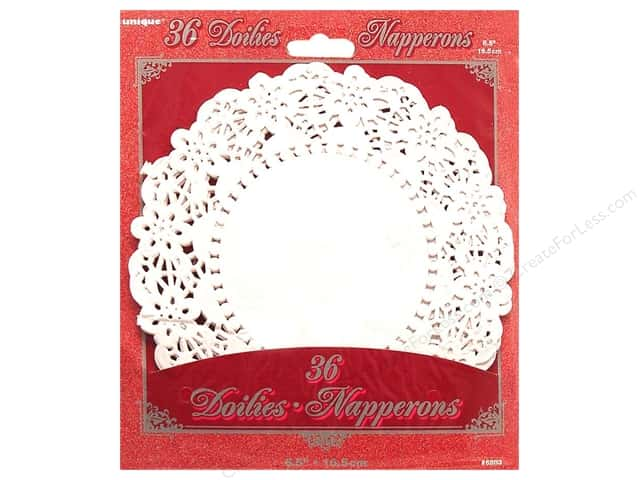 Unique Paper Lace Doilies Round 6 1/2 in. White 36 pc.