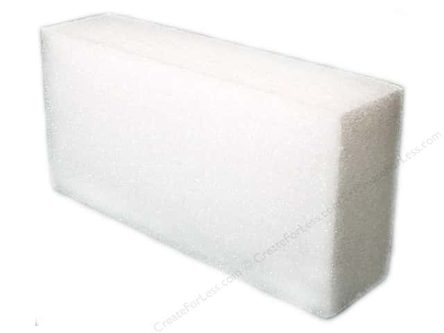 FloraCraft Styrofoam Block 4 x 8 x 2 in. White 1 pc.