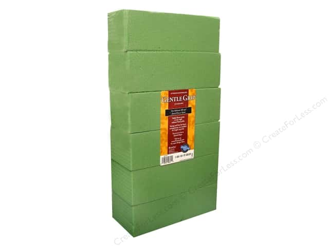 FloraCraft Desert Foam 3 x 4 x 8 in. Green 6 pc.