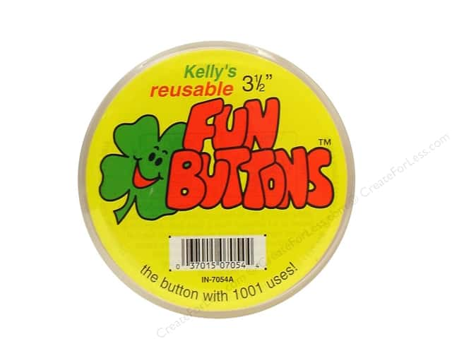 Kelly's Fun Button 3 1/2 in.