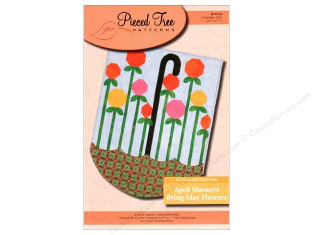 Pieced Tree April Showers Bring May Flowers Banner Pattern