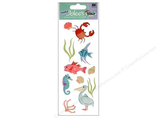 EK A Touch of Jolee's 3D Sticker Beach Sealife South