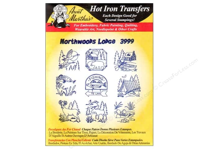 Aunt Martha's Hot Iron Transfer #3999 Northwoods Lodge