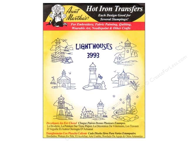 Aunt Martha's Hot Iron Transfer #3993 Lighthouses
