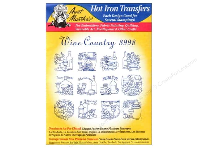 Aunt Martha's Hot Iron Transfer #3998 Wine Country