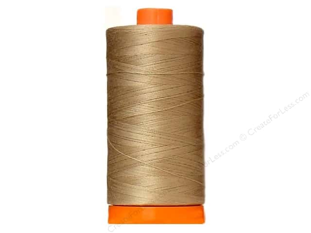 Aurifil Mako Cotton Quilting Thread 50 wt. #2326 Sand 1420 yd.