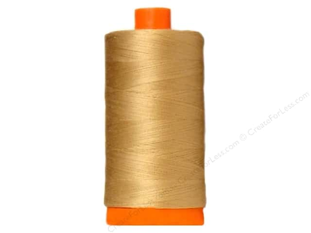 Aurifil Mako Cotton Quilting Thread 50 wt. #5010 Sahara Caramel 1420 yd.