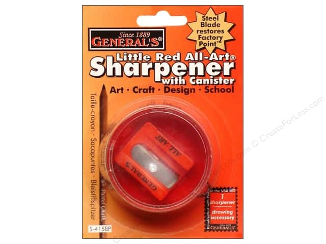 General's Sharpener Little Red All Art With Canister