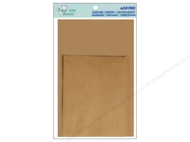 4 1/4 x 5 1/2 in. Blank Card & Envelopes by Paper Accents 10 pc. Brown Bag