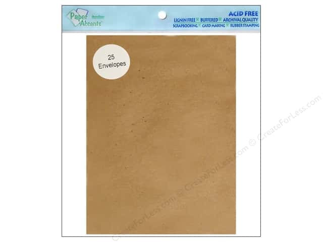 5 x 7 in. Envelopes by Paper Accents 25 pc. Brown Bag - 100% Recycled paper.