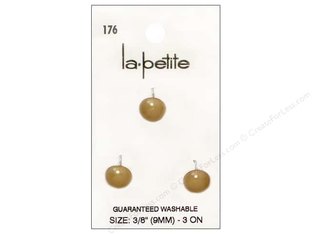 LaPetite Shank Buttons 3/8 in. Beige #176. 3pc.