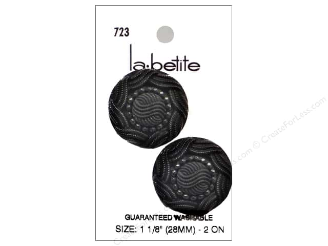 LaPetite Shank Buttons 1 1/8 in. Black #723 2pc.