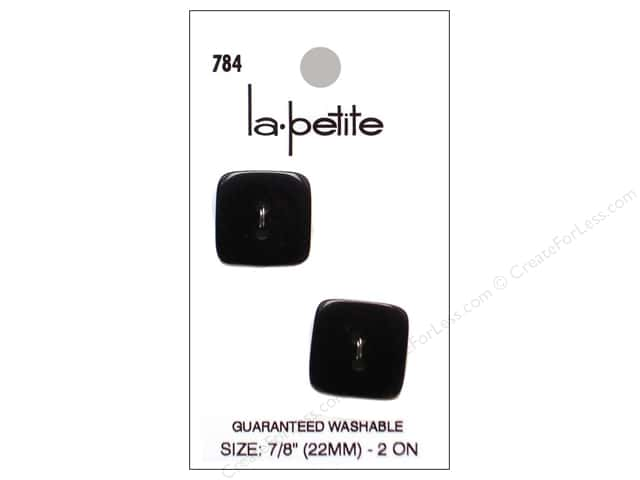 LaPetite 2 Hole Buttons 7/8 in. Black #784 2pc.