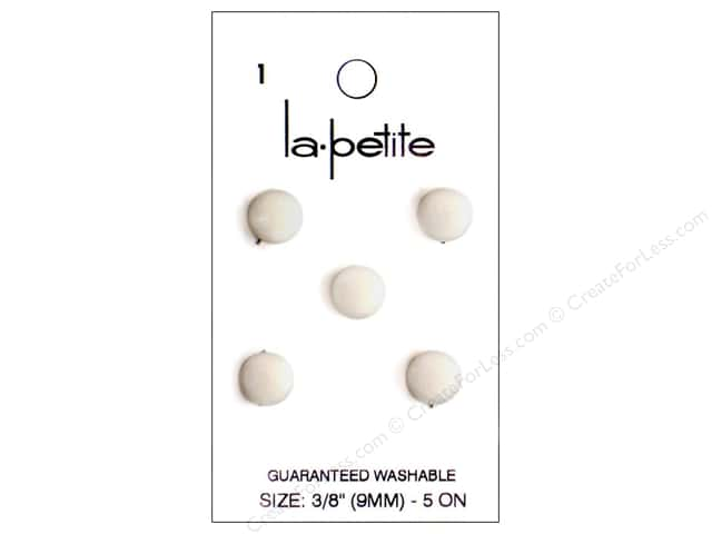 LaPetite Shank Buttons 3/8 in. White #1 5pc.